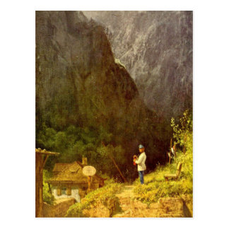 Vintage Motive - Tyrolean Toll House Postcard
