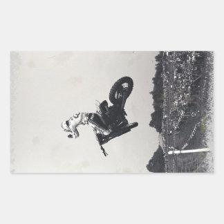 VINTAGE MOTO-X. PEGATINA RECTANGULAR