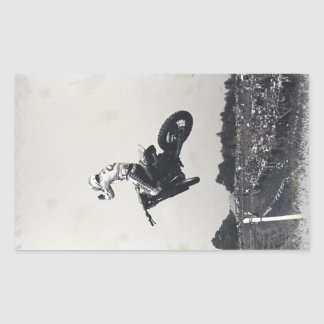 VINTAGE MOTO-X. RECTANGULAR STICKERS