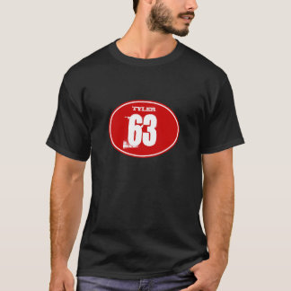 Vintage Motocross Dirt Bike Number Plate - Red T-Shirt