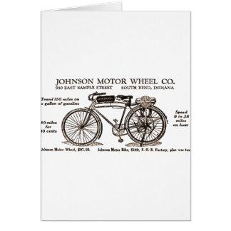 Vintage Motor Bike Ad Card