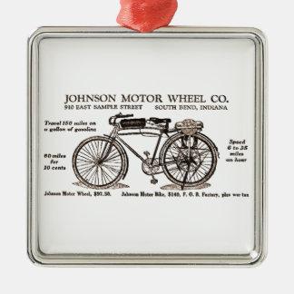 Vintage Motor Bike Ad Metal Ornament