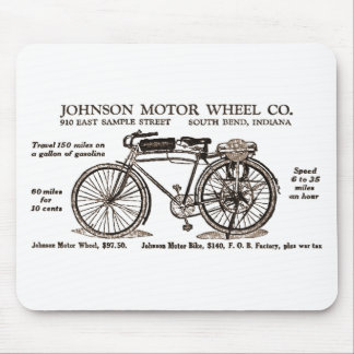Vintage Motor Bike Ad Mouse Pad