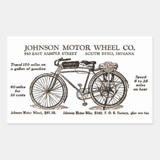 Vintage Motor Bike Ad Rectangular Sticker