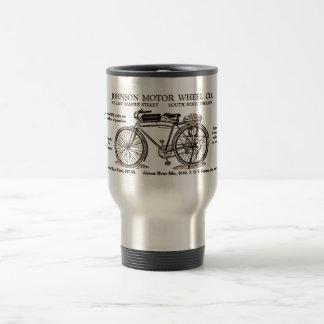 Vintage Motor Bike Ad Travel Mug