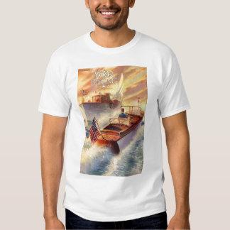 Vintage Motor Boat T-Shirt. Tees