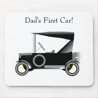 Vintage Motor Car - Dad's First Car! Mouse Pad