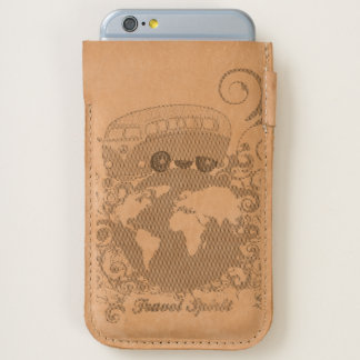 Vintage motor coach travelling around the world iPhone 6/6S case