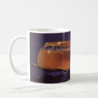 Vintage Motor Magazine Cover, Futuristic Car City Coffee Mug