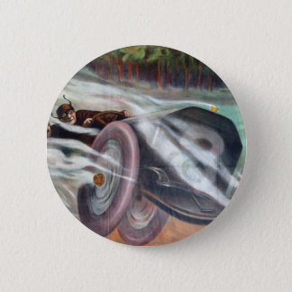 Vintage Motor Racing Artwork Pinback Button