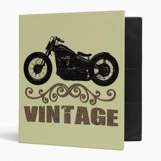 Vintage Motorbike 3 Ring Binder