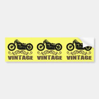 Vintage Motorbike Car Bumper Sticker