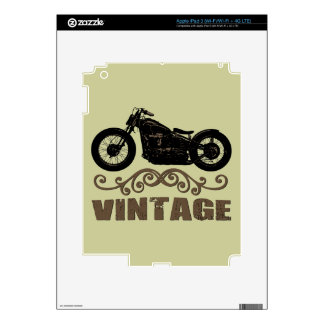 Vintage Motorbike Decals For iPad 3