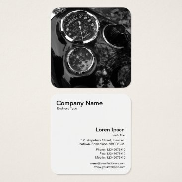 Professional Business Vintage Motorbike Dials Square Business Card