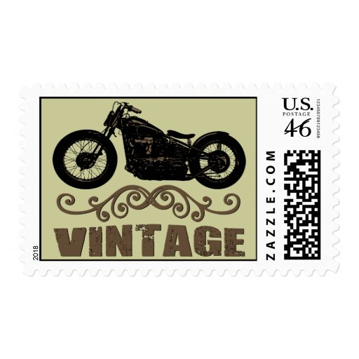 Vintage Motorbike Postage Stamps