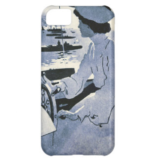 Vintage Motorboat Woman Steer Drive Monaco Antique Cover For iPhone 5C