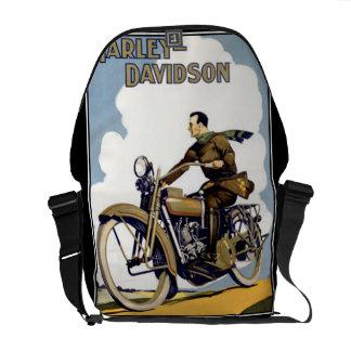 Vintage Motorbyke Messanger Bag Rickshaw Bag Commuter Bag