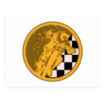 Vintage Motorcross Racing Checkered Flag Postcards