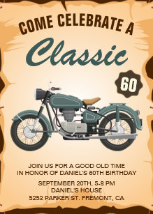 Motorcycle Birthday Party Invitations Inspirational