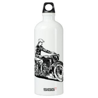Vintage Motorcycle Aluminum Water Bottle