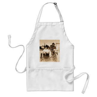 Vintage Motorcycle and Side Car Old School Cool Adult Apron