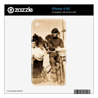Vintage Motorcycle and Side Car Old School Cool Decals For iPhone 4
