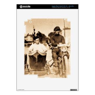 Vintage Motorcycle and Side Car Old School Cool iPad 3 Skins