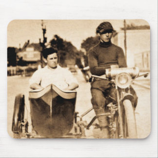 Vintage Motorcycle and Side Car Old School Cool Mouse Pad