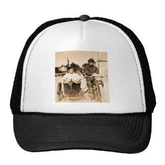 Vintage Motorcycle and Side Car Old School Cool Trucker Hat