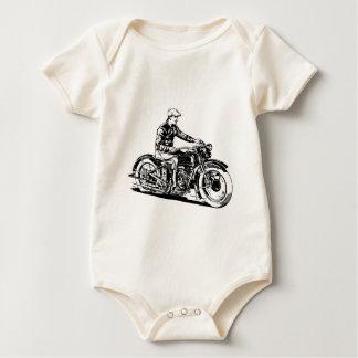 Vintage Motorcycle Baby Bodysuit