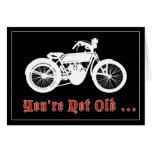 Vintage Motorcycle Birthday Card