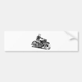 Vintage Motorcycle Bumper Sticker