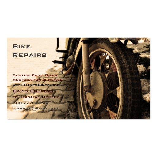Vintage Motorcycle Business Card Templates