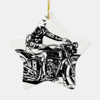 Vintage Motorcycle Ceramic Ornament
