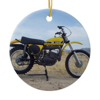 Vintage Motorcycle Christmas Ornament