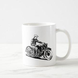 Vintage Motorcycle Classic White Coffee Mug