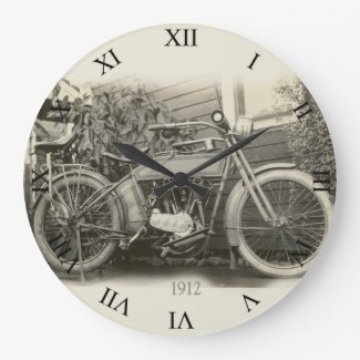 Vintage Motorcycle Clock