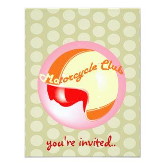 vintage motorcycle club 4.25x5.5 paper invitation card