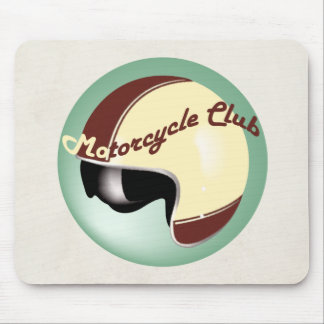 vintage motorcycle club mouse pad