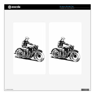 Vintage Motorcycle Decal For Kindle Fire