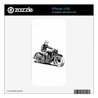 Vintage Motorcycle Decals For The iPhone 4