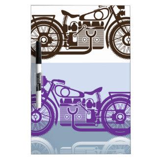 Vintage Motorcycle Dry-Erase Board