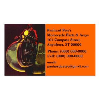 Vintage Motorcycle Globe Splitting Business Card