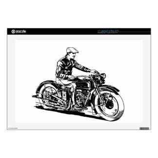 Vintage Motorcycle Laptop Decal