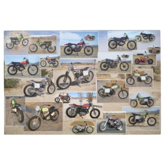 Vintage Motorcycle Metal Art