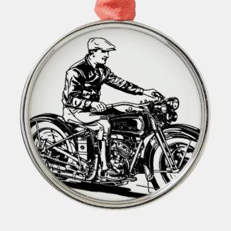 Vintage Motorcycle Metal Ornament
