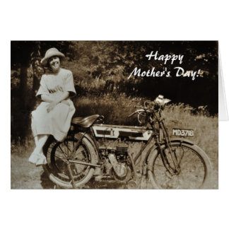 Vintage motorcycle mothers day card