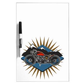 Vintage Motorcycle Mountain Scene Dry-Erase Board