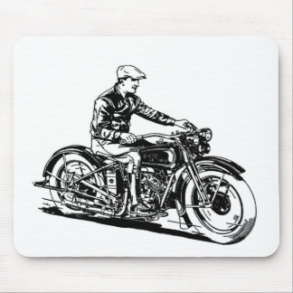 Vintage Motorcycle Mouse Pad