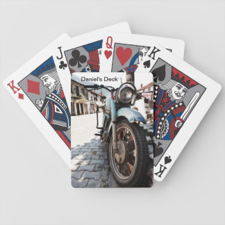 Vintage Motorcycle Playing Cards